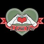 "fingeralphabet heart-green ""I love you"""
