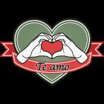 "fingeralphabet heart-green ""Te amo"""