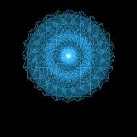 Kreisender Blauer Stern