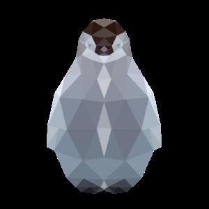 Pinguin, Pinguinbaby polygon geometrisch