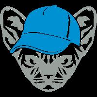 Wild katze animal cap