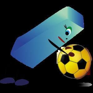 Long Blue spiel Ball