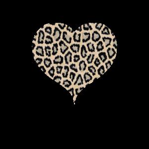 Gepard Muster Herz Leopard Fell Herzform
