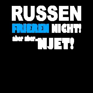 Russen frieren nicht Russischen Russland