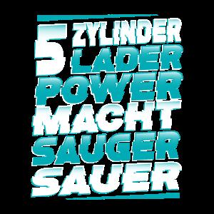 5 Zylinder Laderpower macht Sauger sauer