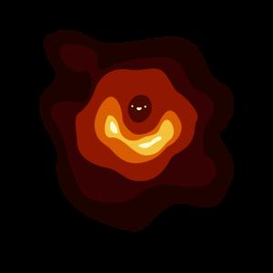 Lustige schwarzes Loch Illustration