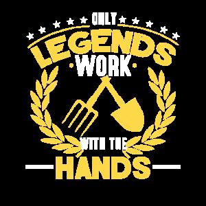 Landwirt nur Legenden arbeiten mit den Händen