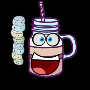 Cappuccino Milchkaffee mit Gesicht Kaffee
