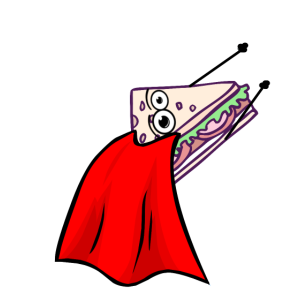 Sandwich Superheld Comic Fast Food Essen Sandwish