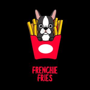 Frenchie Fries Pommes Fritten Hund Comic Tasche