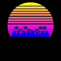 Palmen Sonne Vaporwave Ästhetik Anime