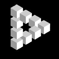 Penrose Triangle Optische Täuschung Hypnotisches Design