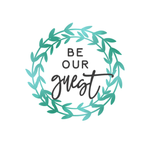 be our guest wreath Geschenk Gastbe our guest wrea