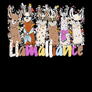 Coole Llamas Kinder und Erwachsene T-Shirt
