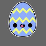 Glückliches Osterei