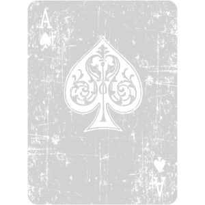 Vintage Poker Pik Ass Spielkarte