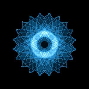Leuchtende Elektronen Stern Mandala