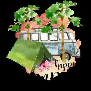 Glücklicher Camper