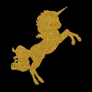Goldenes Glitzer Einhorn
