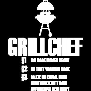 Grillchef Grillen lustiges Spruch Design