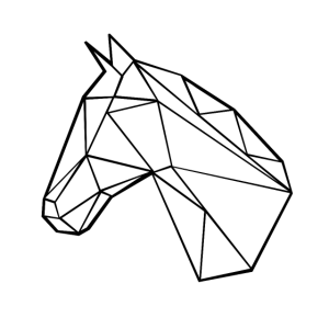Pferdekopf Strich Kunst