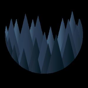blauer Kegelwald