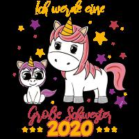 Große Schwester 2020 T-Shirt Einhorn