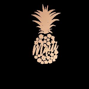Rose Gold Ananas Hawaii Maui Hawaiianisch Niedlich