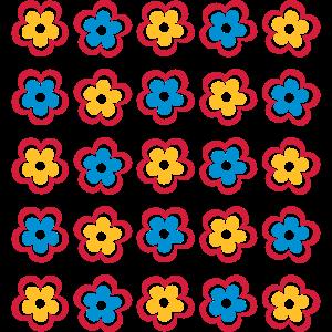 Retro Blumen