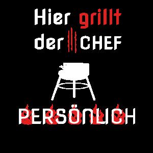 Hier grillt der Chef persönlich neues Grilldesign