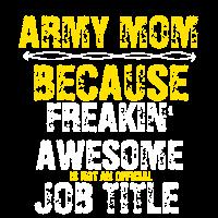 Ehrfürchtige Armeemutter