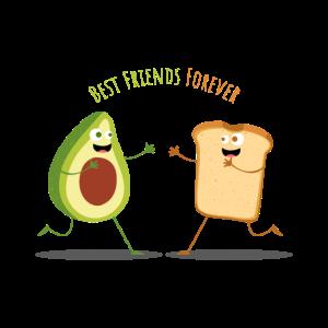 Avocado Toast Freunde Essen Lecker Brot