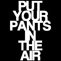 Hosen in der Luft