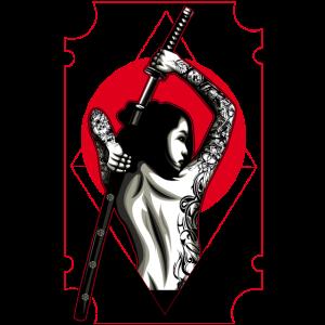 Samurai, Frau, Kriegerin