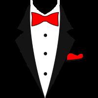 Rot Anzug Hochzeit Feier Geschenk