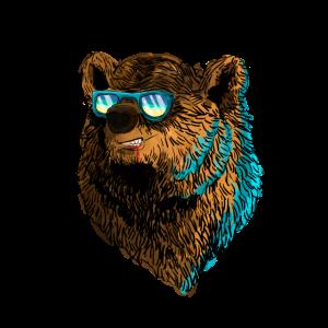 Bär mit der Sonnenbrille