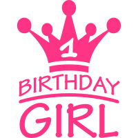 Happy Birthday Girl 1 Year Logo