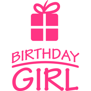 Happy Birthday Girl Present Logo