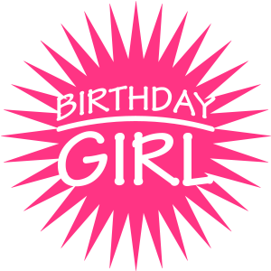Happy Birthday Girl Star Logo