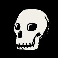 crâne souriant atelier kôta illustration dessins boutique produits artist