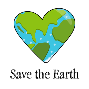 Rettet die Erde Umweltschutz Klima Natur Geschenk