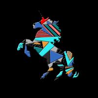 Geometrisches Einhorn - Geometrial Unicorn