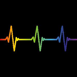 HEARTBEAT Regenbogen Gay Pride CSD LGBT Geschenk