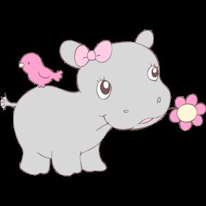 Happy Hippy Hippo Girl