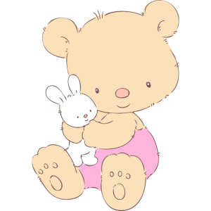 Teddy Bear with Toy Bunny