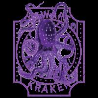 Vorsicht vor Kraken Deep Sea Diving Purple Octopus