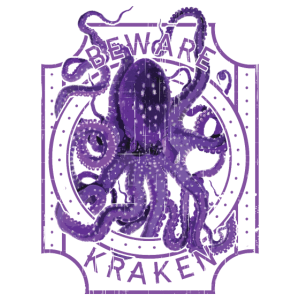 Vorsicht vor Kraken Deep Sea Diving Purple Octopus