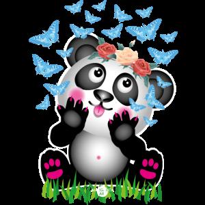 31 Baby Panda Schmetterlinge Rosen