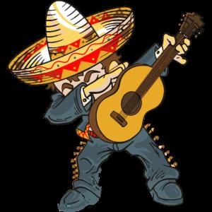 Dabbing Mariachi Dabber Cinco De Mayo Funny Dab