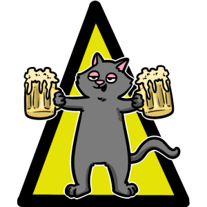 Bier Saufen Party Alkohol Katze Kater feiern